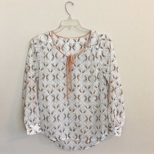 🍃DANIEL RAINN Love Birds Blouse Sz S